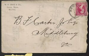 1891 W R Grace & Co NY Cover to Middleburg Va