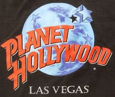 Vintage 90s Planet Hollywood Las Vegas T-Shirt Mens Size XL Black Logo Spell Out