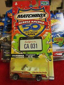 MATCHBOX ACROSS AMERICA, 50TH BIRTHDAY SERIES, CALIFORNIA 1955 CHEVROLET BEL AIR
