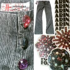 Fornarina TOY MORE CRYSTAL + DIAMANT Edition ViP Edel Cord Kord PANT JEANS 29/34