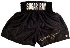 SUGAR RAY LEONARD HAND SIGNED AUTOGRAPHED BOXING TRUNKS WITH PROOF AND COA