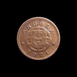 PORTUGUESE ANGOLA CENTAVO 1921 KM 60 #4345#