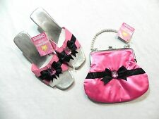 NWT Gymboree GLAMOUR PRINCESS Girl Dress Up Pink Black Shoes & Purse 6 to 9 yrs