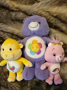 Care Bears Bundle Playful Heart Monkey Cheer Bear Harmony Bear 2007 2009 2012