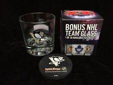 4 NHL Pittsburg Pengiuns Glasses & Coasters Set - Smirnoff Captain Morgan Promo