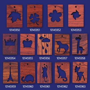1 Rectangular frame 34.5x24x4mm wooden pendant Resin Setting Blanks 101459