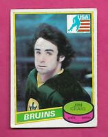 1980-81 OPC # 22 BRUINS JIM CRAIG ROOKIE VG+  CARD (INV# C7988)