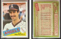 Rob Picciolo Signed 1985 Topps #756 Card California Angels Auto Autograph