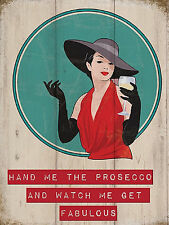 FUNNY GIFT FOR WOMEN HER LADY JOKE NOVELTY FUNNY BIRTHDAY PRESENT PROSECCO SIGN