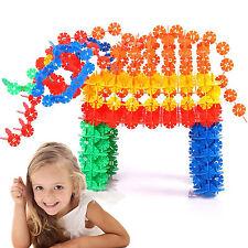 150pcs/set Plastic DIY Snowflake Puzzle Building Blocks Kids Educational Toys