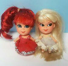 Vintage Mattel Liddle Kiddles Kologne Dolls ROSEBUD & LILY OF VALLEY Lot of 2