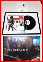 🔥 BRUCE SPRINGSTEEN FRAMED SIGNED GREATEST HITS LP ALBUM RECORD PSA JSA 🔥