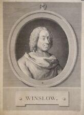 Eau-forte de ROMANET d'après COCHIN, portrait de Winslow