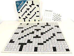 Springbok 2 in 1 Crossword 500 Pc Jigsaw Puzzle 1988 Complete