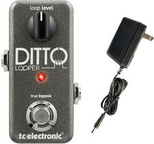 TC Electronics Ditto Looper Guitar Effects Pedal Bundle with Power Supply!
