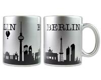 Berlin Tasse Kaffeetasse Skyline Coffee Mug Germany,silberfarben,Neu
