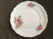 """WALBRZYCH POLAND CHINA ROSES DESIGN DESSERT OR BREAD & BUTTER PLATES 6 3/4"""""""