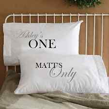 Personalized One and Only Love Couple Pillowcases His & Her Anniversary Gift