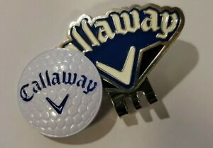 Callaway Golf Ball marker with hat clip (Black and Blue)