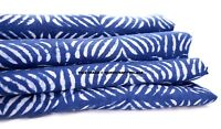 Indigo Hand Block Print Indian Ethnic Cotton Voile Upholestry Fabric by the Yard