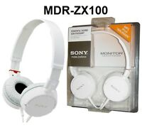 Sony MDR-ZX100 Outdoor Headband Headphones - White