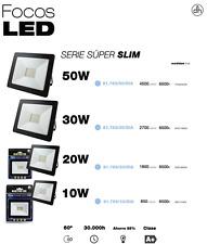 Focos de exterior LED, protección IP65, Súper finos (10 W / 20 W / 30 W / 50 W)