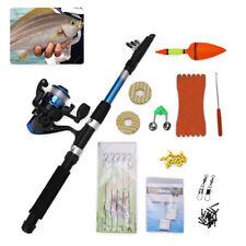 Telescopic Fishing Rod And Fish Reel 5.2 : 1 Set Saltwater Wirh Hook Float Tools