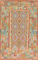 SALE! PASTEL COLOR 5x8 Turkish Kilim Area Rugs Flat-weave hand made oriental rug