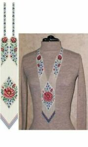 Handmade long necklace with colorful flowers,ethnic jewellery,Boho-Style,Gerdan