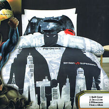 Batman v Superman - Demon - Gotham City - Queen Bed Quilt Doona Duvet Cover Set