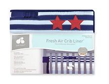 Just Born Vintage Sports Fresh Air Crib Liner, Navy/Red