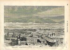Fortification d'Erzurum Erzéroum Turquie Empire Ottoman Arménie GRAVURE 1877