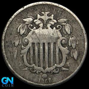 1866 Shield Nickel  --  MAKE US AN OFFER!  #K8635