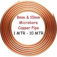8mm & 10mm Copper Pipe Microbore GAS WATER LPG OIL DIY PLUMBING CENTRAL HEATING