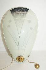50iger Jahre Zugschalter Wandlampe Glas Pflanzen