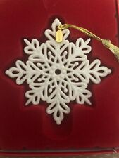 Lenox 2019 Snowflake Ornament Snow Fantasies Annual Christmas Porcelain New