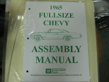 1965 65 FULLSIZE CHEVY CAPRICE, IMPALA, BELAIR, BISC. ALL MODELS ASSEMBLY MANUAL