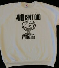Mens XL Vintage 40 Year Old Tree Birthday Funny Sweater