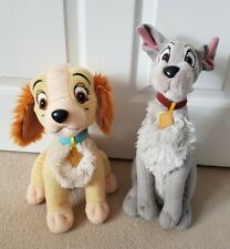 Lady And The Tramp soft toys Plush stuffed Disney dogs Set