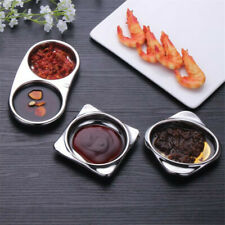 Stainless Steel Kitchen Vinegar Taste Of Soy Sauce Dish Snacks Bowl AA