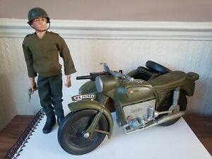 VINTAGE ACTION MAN FIGURE CHERILEA GERMAN MOTORCYCLE & SIDECAR