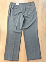 NWT RAFAELLA Gray Pinstripe Dress Pants Sz 16 Classic Fit Straight Leg Stretch