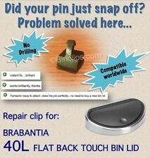 Repair fix bin lid pin striker catch 40L Brabantia touch bin trash can no drill