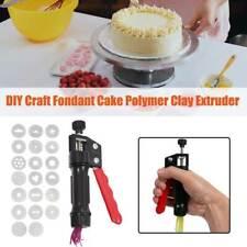 Fondant Cake Handheld Decorating Tool Pottery Polymer Clay Extruder Diy Craft