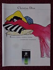 1982 Print Ad CHRISTIAN DIOR DIORESSENCE Perfume Fragrance ~ Girl Colorful ART