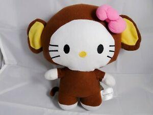 "RARE Hello Kitty Big Head Monkey Costume 10"" plush Sanrio"