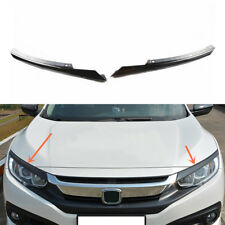 For Honda Civic 2016-2017 ABS Grille Grill Headlight Brow Cover Trim 2pcs