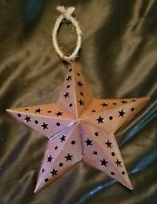 Christmas Ornament Southern Texas Star 5 Points Metal Western Cowboy Cowgirl