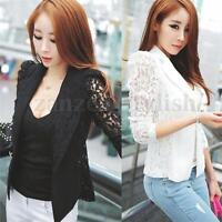 Women OL Casual Suit Lace Jacket Blazer Plus Size Top Cardigan Great S,M,L,XL