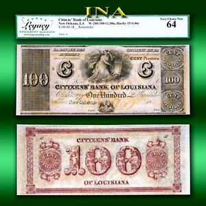 Louisiana New Orleans Citizens Bank $100 LEGACY Very Choice Unc 64